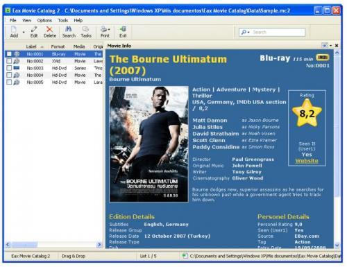 Eax Movie Catalog 2.3.0