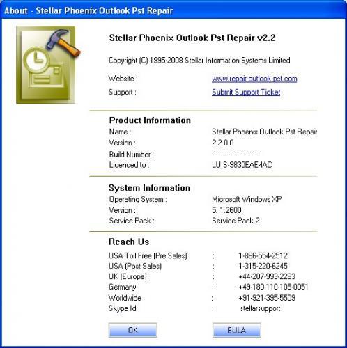 Stellar Phoenix - Outlook Pst Repair Software 3.0