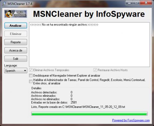 MSNCleaner 1.7.5 - Download 1.7.5