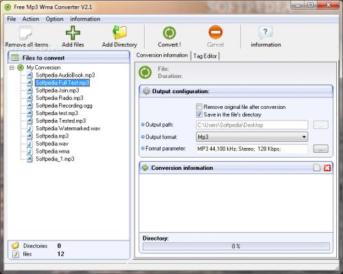 Free Mp3 Wma Converter 1.9  - Download 1.9