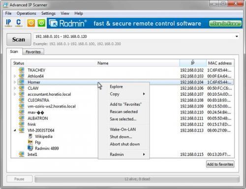 Advanced IP Scanner 1.5