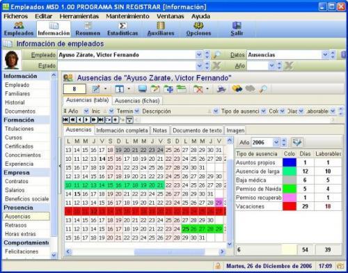 Empleados MSD Multiusuario 3.00