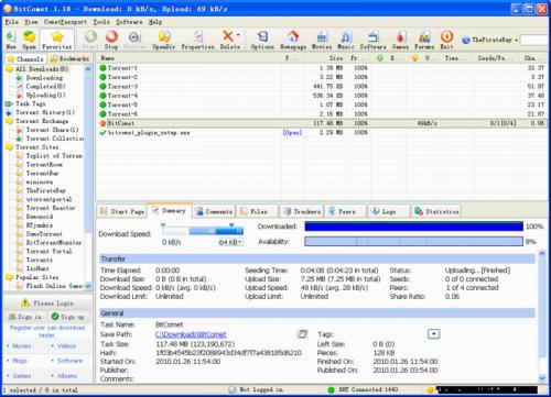 BitComet 1.22 - Download 1.22